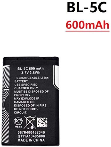 3,7 V 800 mAh Batterie BL-5C BL5C BL 5C Wiederaufladbare Batterie 2112 2118 2255 2270 2280 2300 2600 2610 3125 3230-Gold