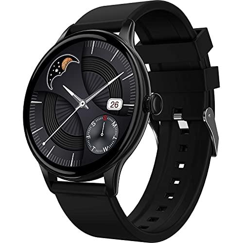 Fire-Boltt Terra AMOLED Always ON 390*390 Pixel Full Touch Screen, Spo2 & Heart Rate Monitoring Smartwatch with Custom Widget Shortcuts – Black