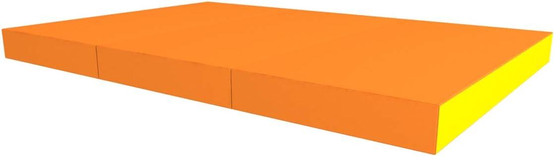idealfit klappbare Turnmatte 2-teilig Orange 100x100x6cm IFA-85