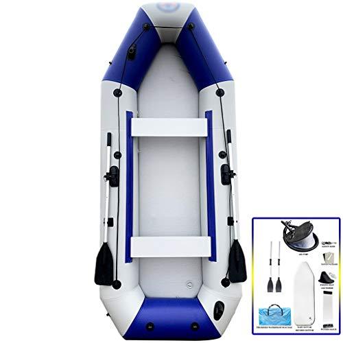 YUESFZ Kayaks gonflables Kayak De Mer avec Moteur Canoë Aventure Épais Et Résistant À l'usure, Bateau De Pêche Récréative De Plein Air, Planche De Surf en Mer, Ensemble Abordable