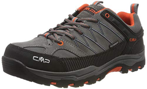 CMP Kids Rigel Low Shoes Wp Trekking- & Wanderhalbschuhe, Grau (Stone-Orange 78uc), 35 EU