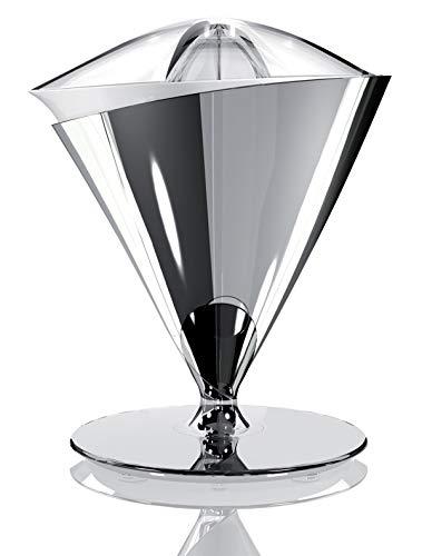 BUGATTI, Vita, Spremiagrumi Elettrico, Velocità 90-95 rotazioni al minuto, Capacità 0.6 litri, Filtro in Acciaio Inox, 80 W, Design Elegante, Colore cromo