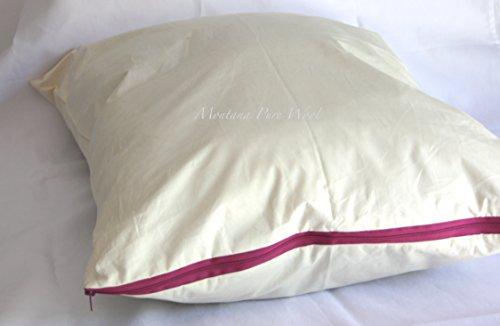 "Montana Pure Wool Bed Pillow Standard 20""x26"", Loft Full, 100% Wool Fill, Made in the USA (Standard 20"" x 26"")"