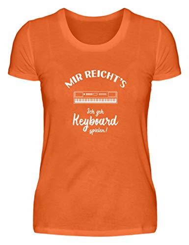Keyboarder: Ich GEH Keyboard Spielen! - Damenshirt -XXL-Mandarin Orange