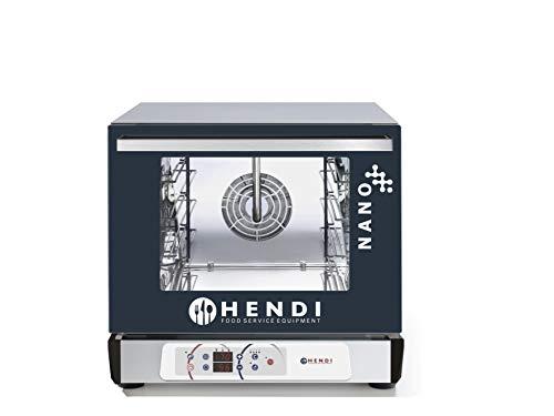 HENDI Kombidämpfer Digital, mit Beschwadung, 1 reversierenden Lüfter, Temperatus bis 260°C, elektronische Timer, digital Bedienfeld, 230V, 3100W, 560x595x(H)530mm, Edelstahl
