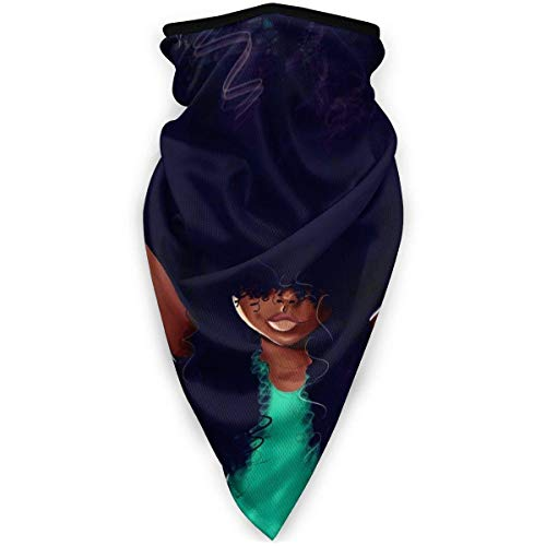 NA Gemütliche Winddichte Röhre, Wiederverwendbare Sturmhauben-Kopfbedeckung zum Angeln Radfahren Schwarzes Mädchen Kunst Afro Lila Haare Anime Charaktere Afrikanisch A.