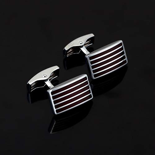 jiao Fashion Red Streifen Emaille Manschettenknopf Für Herren Shirt Markenanzug Manschettenknöpfe Manschettenknöpfe Schmuck