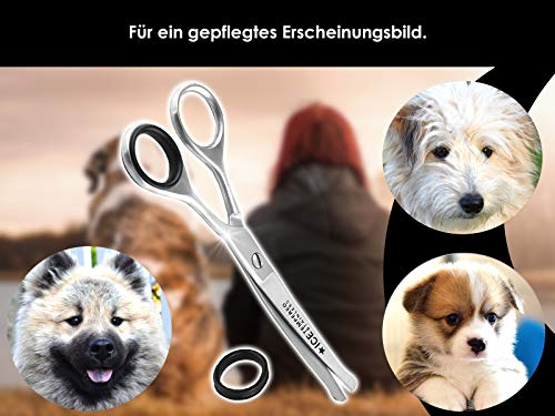 Fur scissors, paw scissors, bent, dogs hair, with micro-toothing 5