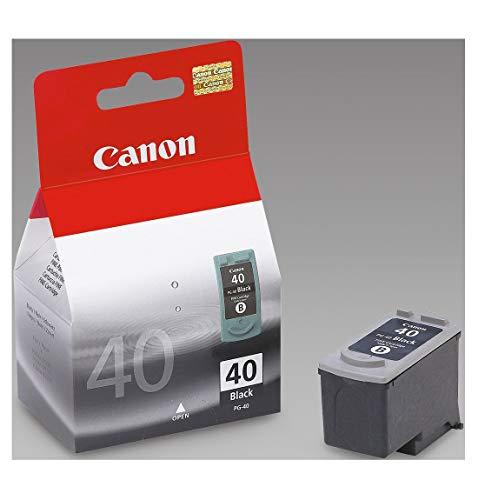 Canon PG-40 Cartucho de tinta original Negro para Impresora de Inyeccion de tinta Pixma MP140,150,160,170,180,190,210,220,450,450x,460,470-iP1200,1300,1600,1700,1800,1900,2200,2500,2600