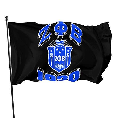 MaoMaoYongHui Banderas Decorativas de jardín Zeta Phi Beta, Bandera Artificial al Aire Libre para el hogar, Decoraciones de jardín 3x5 pies