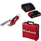 Einhell 3410370 Forbici e sfoltirami a Batteria, 18 V, Rosso + Power-X-Change Starter Kit(Batteria e Caricabatteria) + Valigetta Universale
