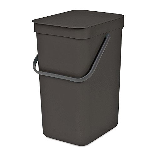 Brabantia 109805 Sort & Go Waste Bin, 12L, Gray