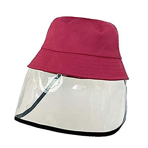 Cappelli per bambini anti-saliva anti-appannamento esterno visiera parapolvere polvere tappi protezione visiera scudo cappello secchio-beige