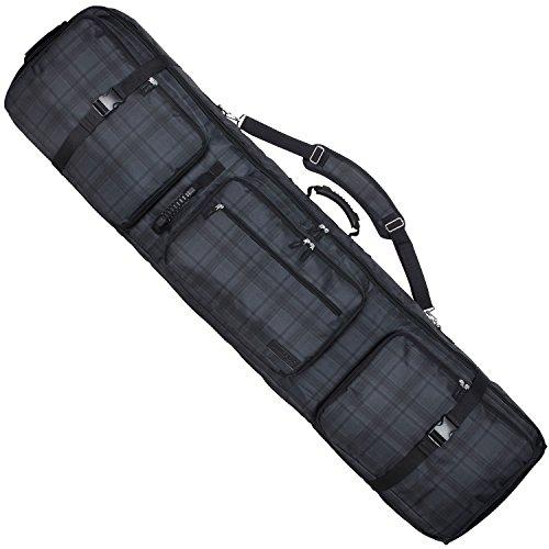 VAXPOT(バックスポット) スノーボードケース キャスター付き 4WAYタイプ リュック可能 大容量収納 前面4ポケット 【スノーボード ウェア、板、ブーツ、アクセサリーなど収納可】 VA-3212 CH-CHR Sサイズ(150cmタイプ)