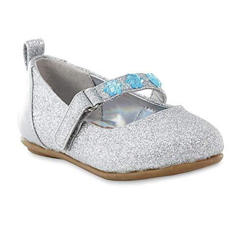 Disney - Chaussures Mary Jane pour fille - Disney - La Reine des Neiges - Anna et Elsa Bébé fille , argent (Argenté), 22 M EU Grand enfant