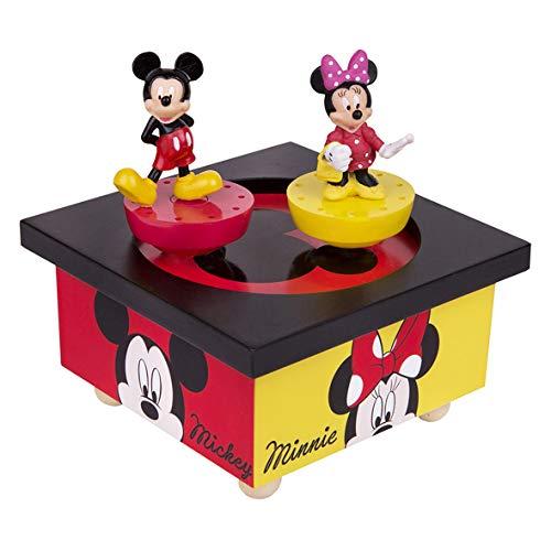 Trousselier - Cajas de música, figuras danzantes, modelo para elegir Mickey & Minnie - Disney