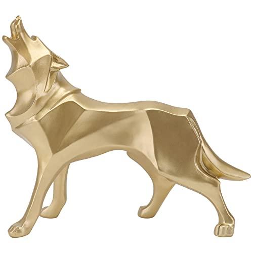BESPORTBLE Resina Abstracta Figura de Lobo Geométricas Estatuas de Lobo Naturaleza Escultura de Lobo Home Bookcase Decoración de...