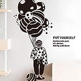 Personalidad creativa personajes literarios y artísticos pegatinas de pared viento estudiante dormitorio alquiler habitación renovación decoración globo pegatinas 60x90