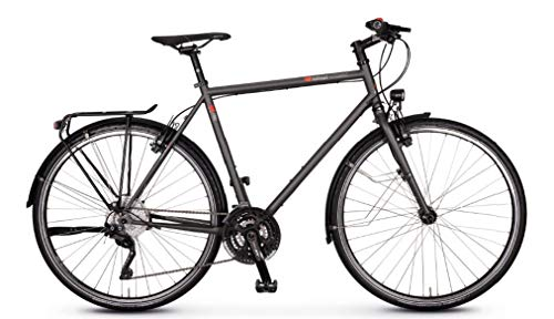 vsf T-700 Shimano Deore XT 30-G HS22 Trekking Bike 2020 (28 pulgadas, diamante 57 cm, Ebony mate)