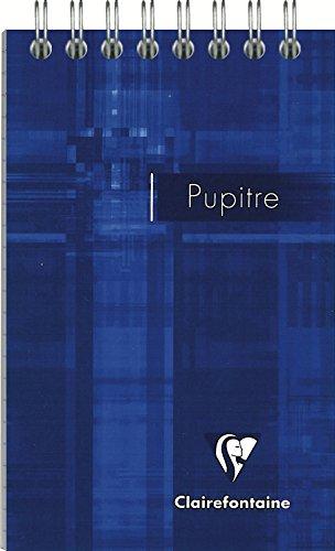 Clairefontaine 8556C - Blocs de notas PUPITRE con espirales A7+ interior rayado horizontal de 60 páginas, 1 unidad [colores surtidos]