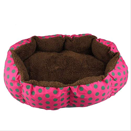 Bed Kennel Dog Round Cat Soft Plush Super Soft Pet Winter Warm Sleeping Bag Puppy Cushion Mat Portable Cat Supplies L Hot Pink