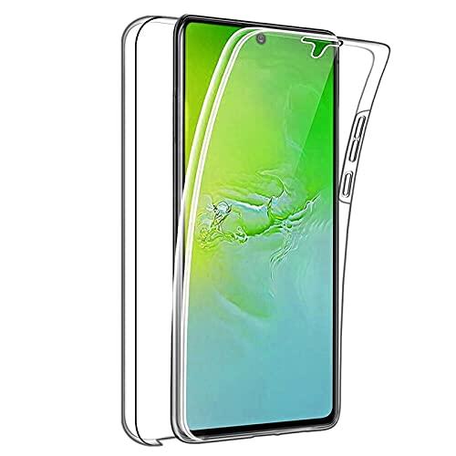 TBOC Funda Compatible con Samsung Galaxy S10 Lite [6.7'] - Carcasa [Transparente] Completa [Silicona TPU] Doble Cara [360 Grados] Protección Integral Delantera Trasera Lateral Móvil