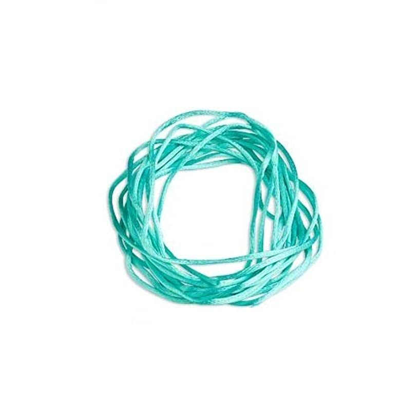 Satin Bugtail Cord Turquoise 1mm. Section of 5 meters / 5.4 Yards.