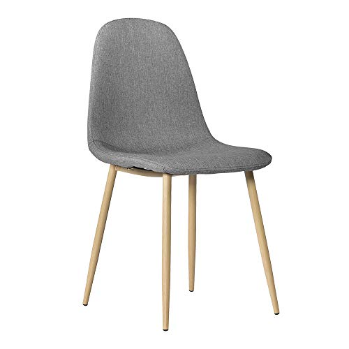 Detectoy 4pcs modern style simple dining chair grey