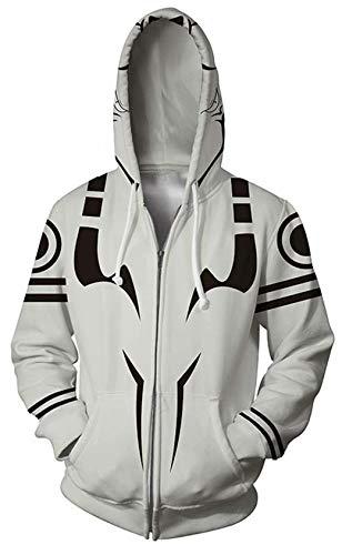Jujutsu Kaisen 3D Gedruckt Hoodie Unisex Anime Satoru Gojo Cosplay Pullover Sweatshirts Manga Yuji Itadori Steetwear Hooded Outwear Größe S-5XL Gr. S, Jujutsu Kaisen Zip Hoodie 01