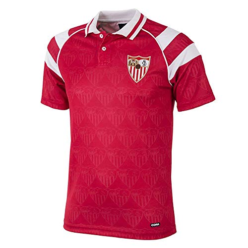 copa FC Sevilla Retro Trikot Auswärts 1992/93 rot rot, XXL