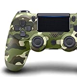 Wireless Bluetooth Controller for PS4 with Dual Vibration Compatible with Windows PC & Android OS- Green Camouflage