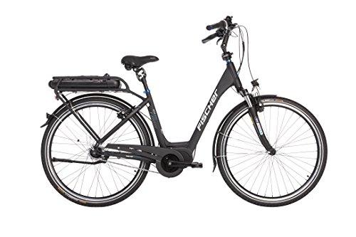 """FISCHER E-Bike City ECU 1860, Schwarz, 28\"""", RH 44 cm, Mittelmotor 48 V/557 Wh"""