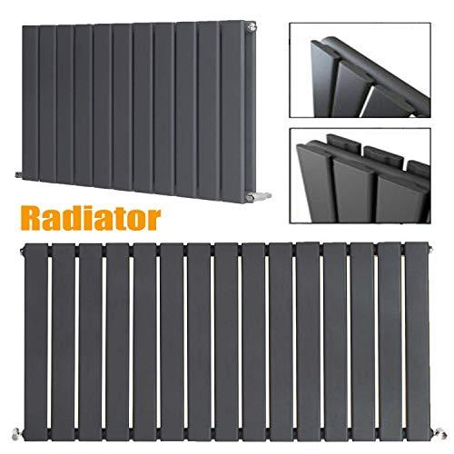 600 x 480 mm Verticale zuilradiator Antraciet Vlakke Paneel | Originele Premium Radiator