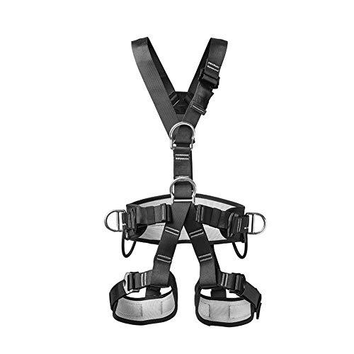 GAESHOW Montañismo al Aire Libre Escalada Cinturón de Seguridad de Cuerpo Completo Arnés de Trabajo aéreo Rescate Equipo de protección contra caídas Hilo de Refuerzo de poliéster