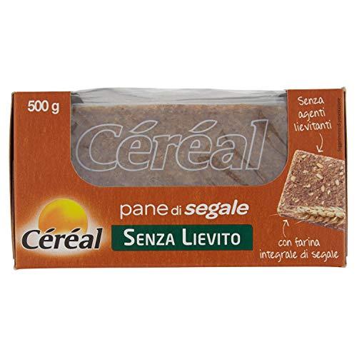 Céréal Pane di Segale - Senza Lievito - con farina integrale di segale - senza agenti lievitanti - 500 g
