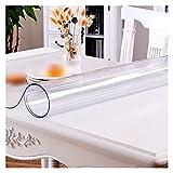 ZWYSL Protector de Mesa PVC Transparente Manteles Fácil Limpiar Resistente a Los Arañazos y Aceite y Agua, Utiliza para Encimeras Oficinas y Cocinas (Color : Clear-1.5mm, Size : 80x100cm)