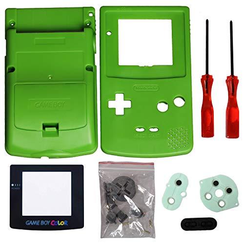 Timorn Sostituzione Case Cover Shell alloggiamento pieno per GBC Gameboy Color (Verde)