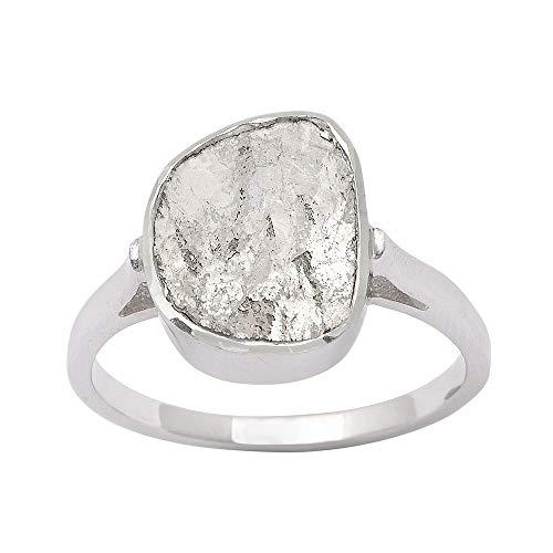 Anillo solitario Polki de diamante natural más fino de 1,00 CTW, anillo hecho a mano, anillo de diamante de talla rosa, anillo de declaración regalo para mujer