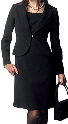 Amel(エイメル) 【ブラックフォーマル】「女優になれると噂の美喪服」テーラードジャケット×エンパイアワンピーススーツ2点セット 7号