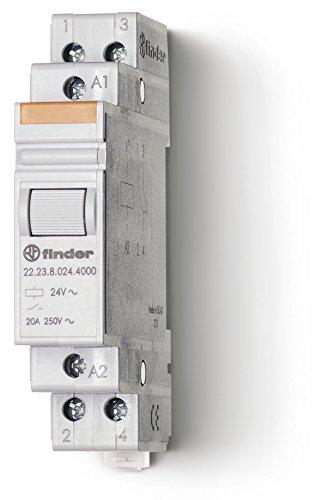 Preisvergleich Produktbild Finder 222390124000PAS Installationsschütz,  12 V Gleichstrom,  1 Schließer,  1 Öffner,  20 A,  Kontaktmaterial: AgSnO2