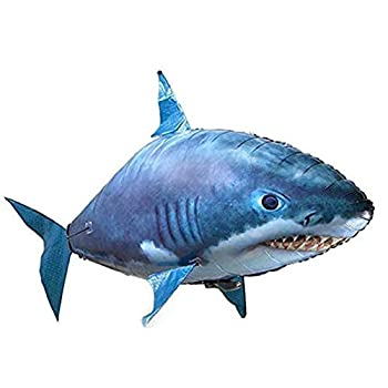 Remote Control Flying Shark Toy Air Swimming Fish RC Animal Toy for Kids Children DIY Plastic Inflatable Balloon