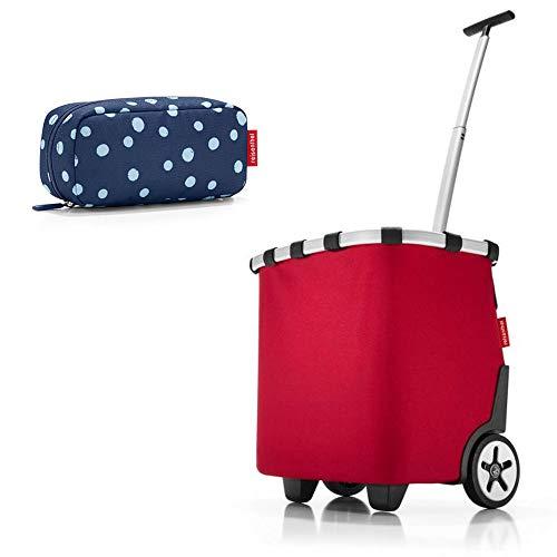 reisenthel - 2tlg. Einkaufsset carrycruiser und multicase Einkaufskorb Einkaufstrolley Set Rolltasche Case Kosmetik Kosmetiktasche