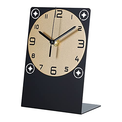 hkwshop Reloj de Escritorio Table Reloj Reloj Adornos Casa Sala de Estar Nordic Decoración de Escritorio Dormitorio Luz Cálida Lujo Adornos de Escritorio Reloj de Mesa