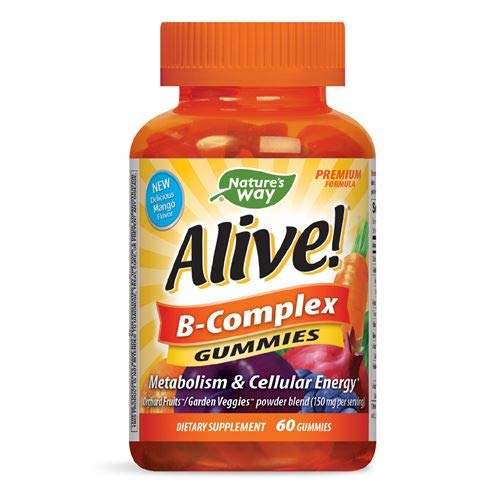 Nature's Way Alive B Complex, 60 Gummies, Pack of 2
