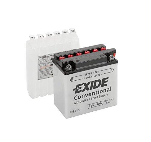Exide - Batería para motocicleta (EB9-BS, 9 Ah)