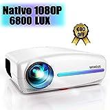 Proyector, WiMiUS 6500 Lúmenes Proyector Full HD 1920x1080P