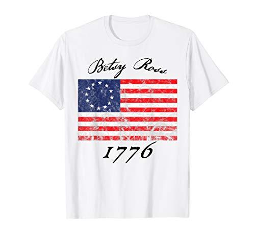 Betsy Ross Flag 1776 Vintage Revolutionary flag T-Shirt