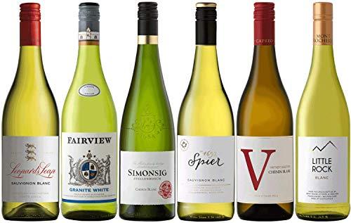 CAPREO Weinpaket Weißwein | Weinpaket mit Weinen aus Südafrika (6 x 0.75l) | Trocken und Lieblich | Weine für jeden Geschmack