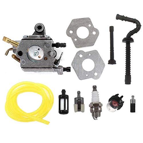 AISEN Carburatore con guarnizione Kit tubo benzina Filtro per motosega Stihl MS192 MS192T MS192TC Zama C1Q-S258, 1137 120 0650