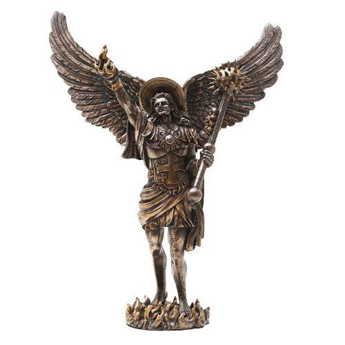 PTC 12.75 Inch Archangel Uriel with Spear Religious Resin Statue Figurine